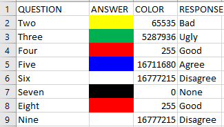Can IDEA identify colour formating in Excel? | IDEAScripting